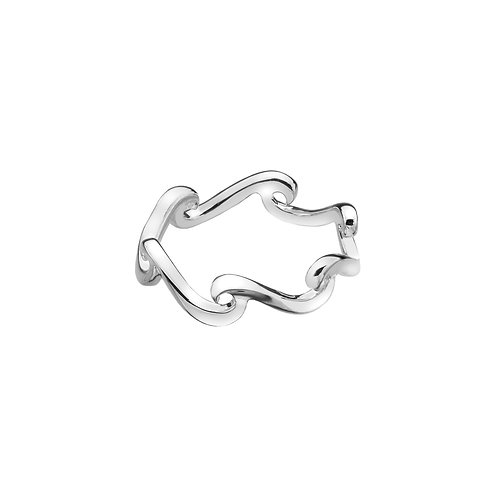 Stirling Silver Ring - Continuous Wave