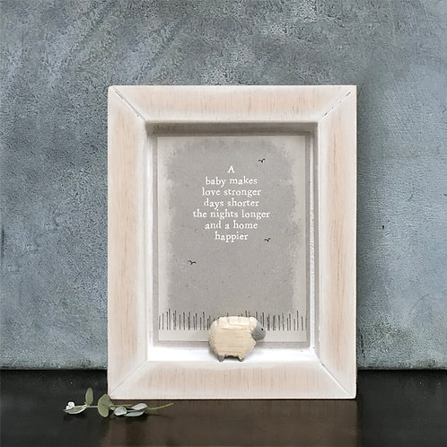 Wooden Nursery Picture-A Baby Makes