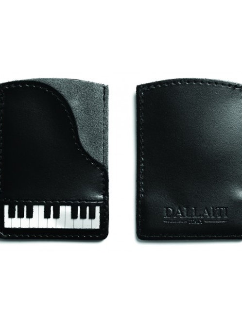 Piano Leather Credit Card Case