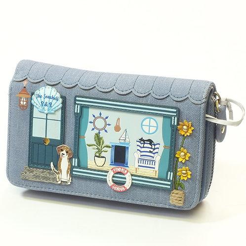 The Seashell B&B Medium Ziparound Wallet