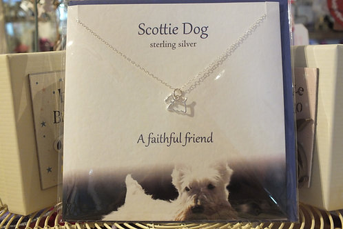 Scottie Dog Necklace and Card