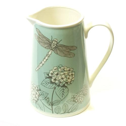 Dragonfly Floral Jug