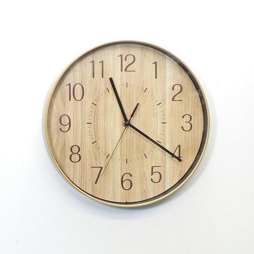 Natural Wooden Effect Clock