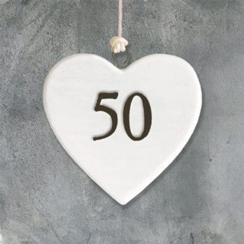 Porcelain heart-50
