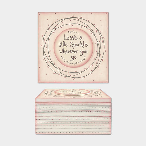 Large Pink Striped Box-Leave A Little