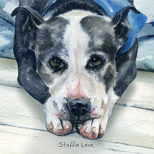 Card - Staffie Love