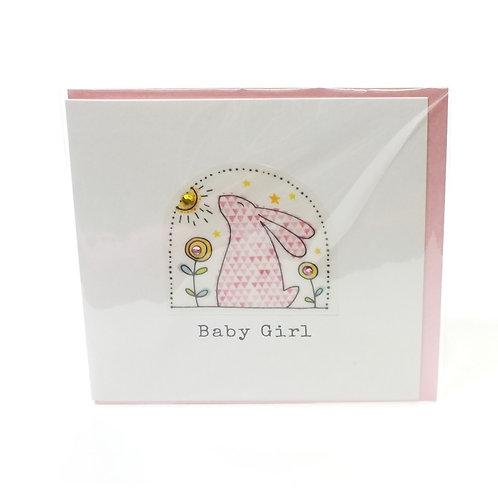 Baby Girl Bunny - Card