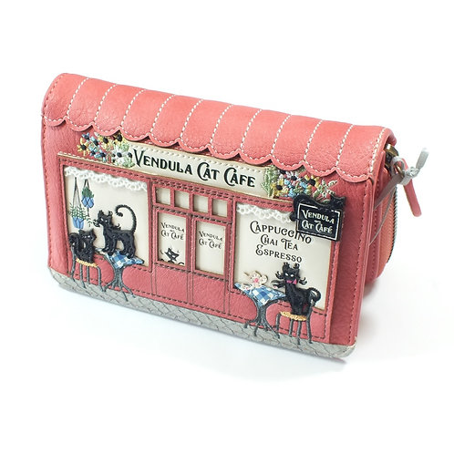 Vendula Cat Cafe Medium Ziparound Wallet