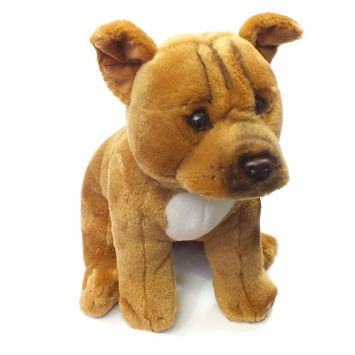 """Staffordshire Bull Terrier (Red) 12"""" Soft Toy"""