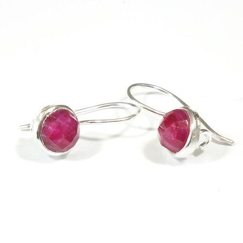 Semi Precious Stone Drop Earrings SS - Jul - Ruby