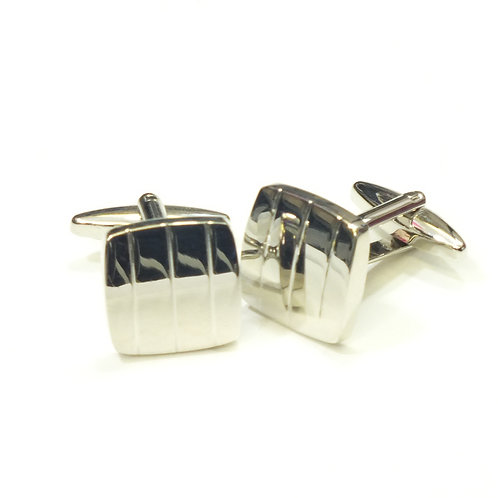 Grooved Square Cufflinks