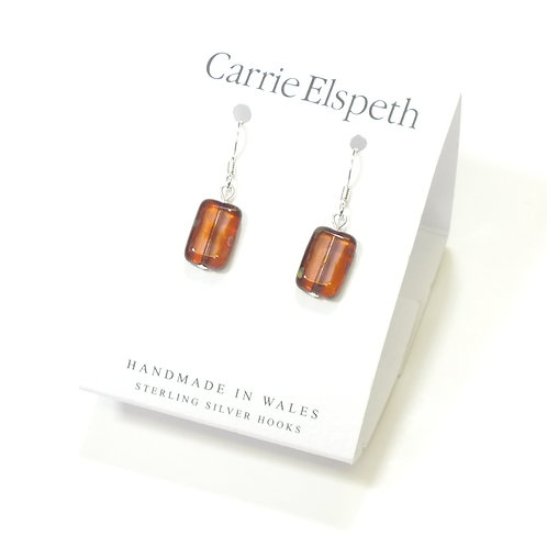 Maroon Picasso Earrings