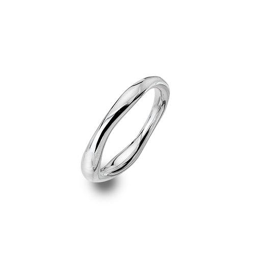 Stirling Silver Ring -  Organic Circle