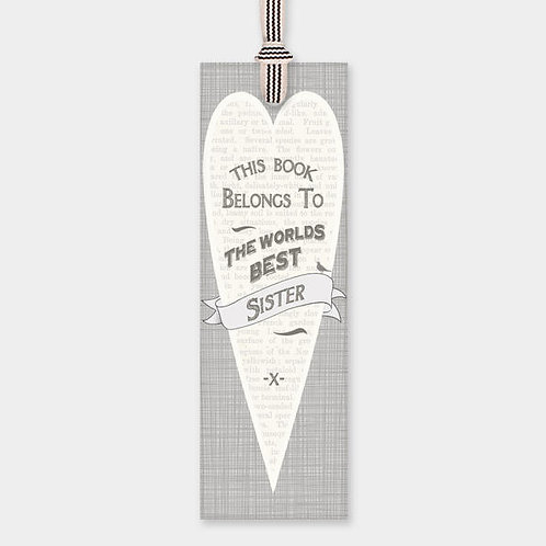 Bookmark-Worlds Best Sister