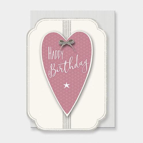 Italic Heart Card-Birthday