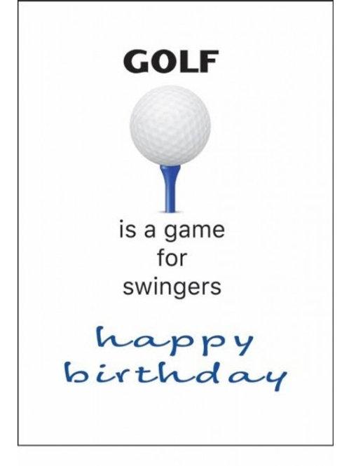 GOLF...FOR SWINGERS HAPPY BIRTHDAY CARD