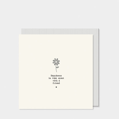 Square Card - Flower / Happiness is