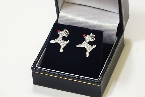 Ruldolf White Stud Earrings