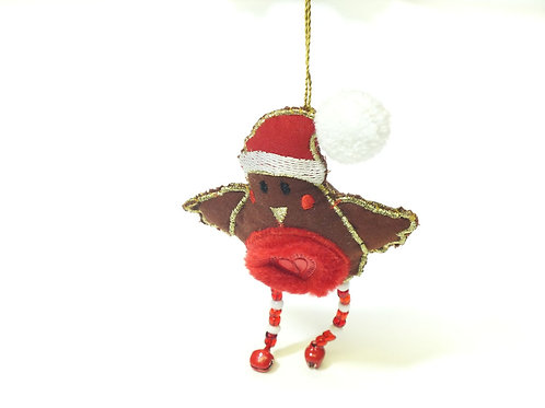 Christmas Robin Hanging Decoration