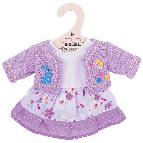 Lilac Dress and Cardigan - Medium