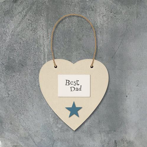 Cream Heart & Star - Best Dad