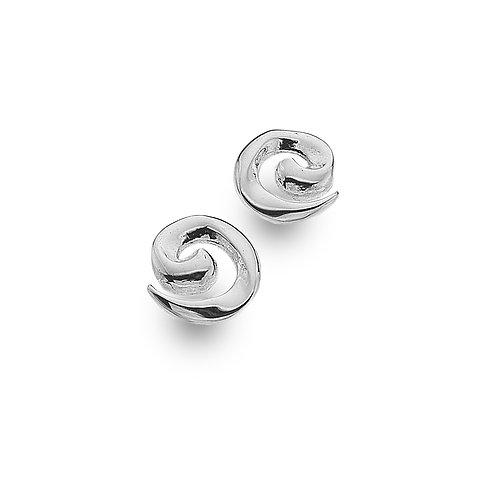 Sterling Silver Stud Earrings Simple Spiral
