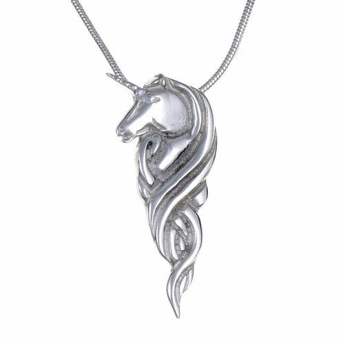 "Unicorn Pendant On 18"" Snake"