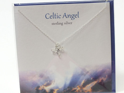 Celtic Angel Necklace with Card