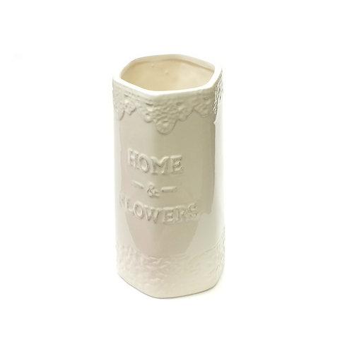 Glazed Ceramic Vase - Home & Flowers