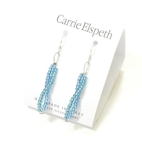 Blue Seed Twists Earrings