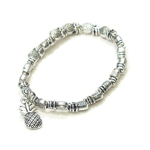 Rhodium Pineapple Bracelet