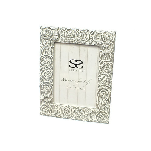 "Floral Deco Photo Frame 7""x5"""