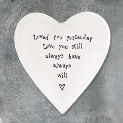 Porcelain coaster-Loved you