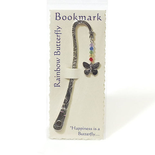 Inspirational Bookmark Rainbow Butterfly