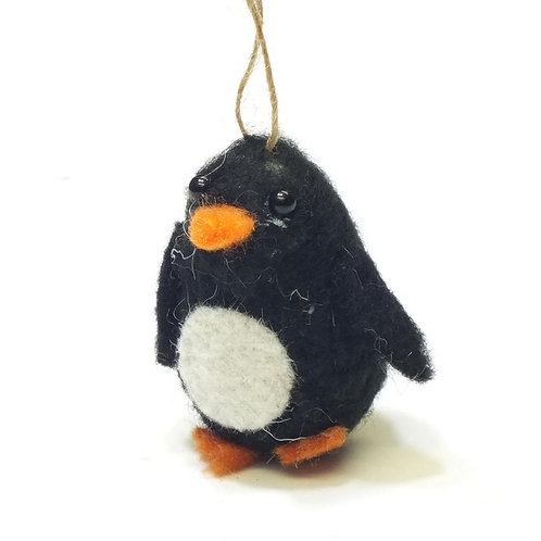 Wool Mix Penguin Hanging Decoration