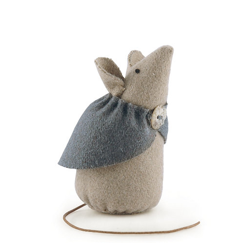 Little Mouse With Grey Cape-Dot