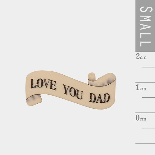 Ribbon Word Magnet-Love You Dad