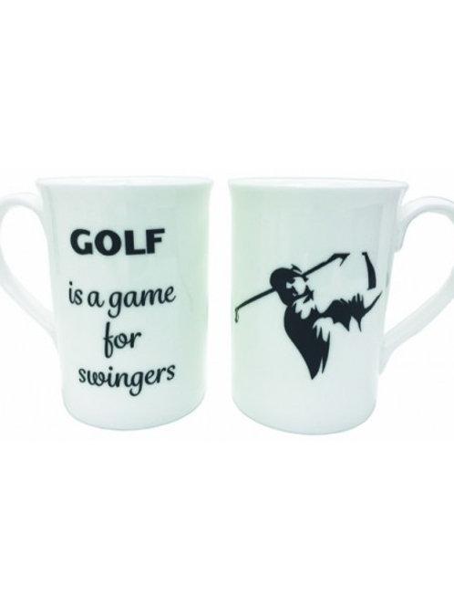 Golf...For Swingers Bone China Mugs