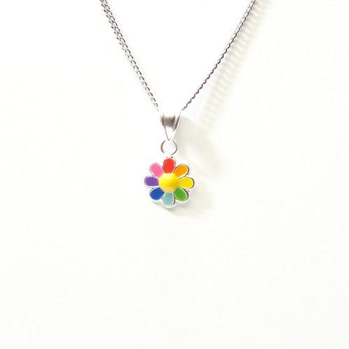 Rainbow Flower Pendant