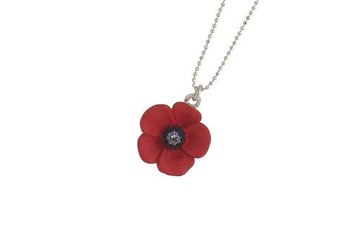 Small 5 Petal Poppy Necklace