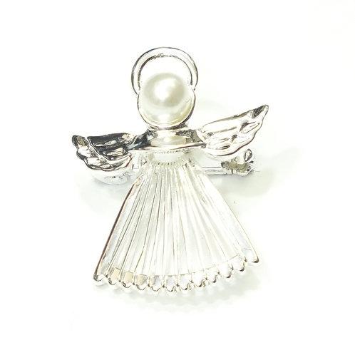 Pearl Angel Brooch