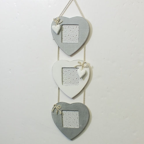 Triple Heart Photo Frame