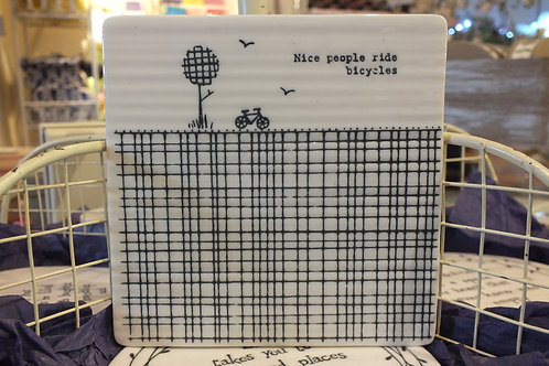 Nice People Square Coaster