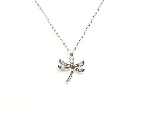 Sterling Silver Dragonfly Pendant and Chain