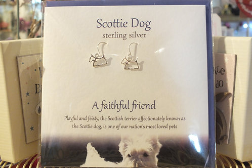 Scottie Dog Earrings and Card