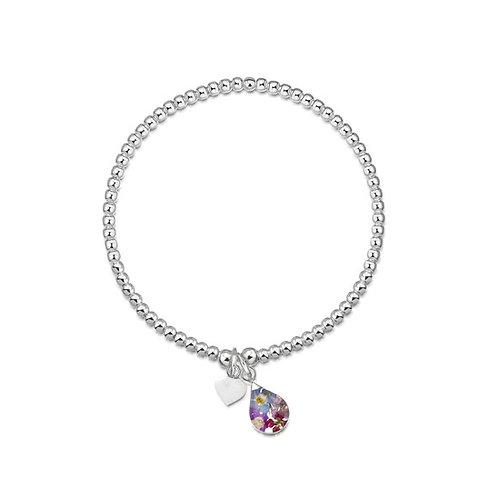 Sterling Silver Bead Bracelet - Purple haze - Single Beads