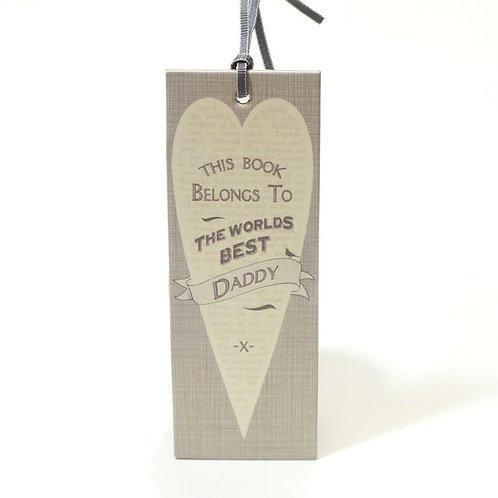 This Book Belongs to The Worlds Best Daddy - Bookmark