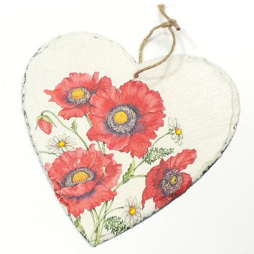 Poppy, Heart Slate