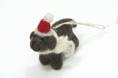 Mini Chocolate Labrador Decoration