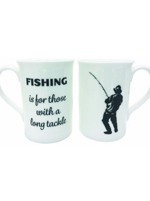 Fishing Long Tackle Bone China Mugs